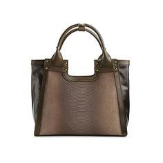 Charles Jourdan Blake II Leather & Suede Satchel