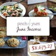 Making Money from a Food Blog. Pinch of Yum posts monthly income reports.