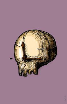 Carteles de día de muertos on Behance: La muerte no es otra cosa que el paso del tiempo...
