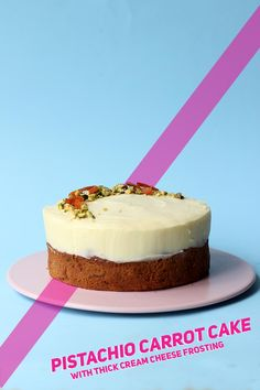 Pistachio Carrot Cake with Thick Cream Cheese Frosting 4