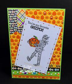 Art Impressions Halloween Sets! 4941 – Spooktacular Set. Handmade card.