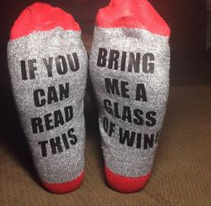 Hey, I found this really awesome Etsy listing at https://www.etsy.com/listing/459521884/customized-wine-socks-if-you-can-read