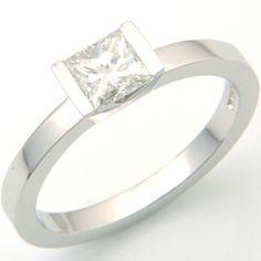 Bespoke Platinum Customer's Princess Cut Diamond Solitaire Engagement Ring. Form Bespoke Jewellers.  #bespoke #solitaire #diamond #engagement #ring #Yorkshire