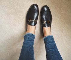 accessorize with black Gucci loafers