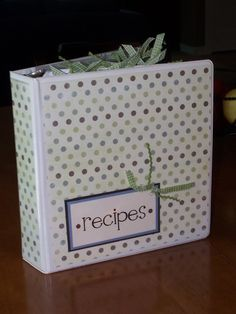 Recipe binder - good idea for 4-H recipes.