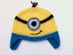 minion hat pattern with pictures and step by step...woohoo!