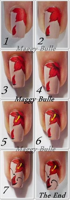395 Best Nail Art Step By Step Images On Pinterest Nail Art Nail
