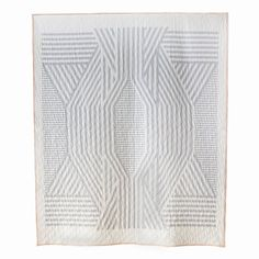 Meg Callahan Ada quilt.   Symmetry with asymmetrical nuances. Ada Quilt started as a sketch and stayed that way when the mistakes all of the sudden turned to deliberate design decisions. Made to be used/admired/forgotten?remembered. Dedicated to the city of Ada, Oklahom
