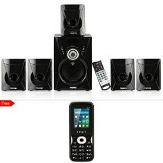 Ikall Tanyo 5.1 Speaker System With Free Mobile Phone