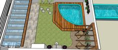 jardins com piscinas pequenas - Buscar con Google Beauty Room, Outdoor Areas, Rooftop, Ideas Para, Fountain, Swimming Pools, Sweet Home, Outdoor Blanket, Landscape