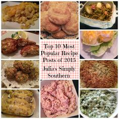 Top 10 Popular Recipes 2015 Chicken Taco Recipes, Pasta Recipes, Popular Appetizers, Pepper Steak, Oven Baked Chicken, Most Popular Recipes, Canning Recipes, Southern Recipes, Simply Southern