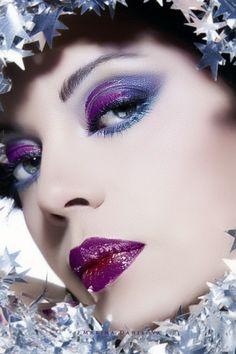 mad make-up skills Purple Makeup, Love Makeup, Beauty Makeup, Makeup Looks, Purple Lipstick, Beauty Tips, Stunning Eyes, Stunning Makeup, Amazing Makeup