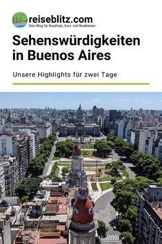 Diese Sehenswürdigkeiten in Buenos Aires sind unsere Highlights für einen Aufenthalt von zwei Tagen in der argentinischen Hauptstadt. Puerto Iguazu, Paris Skyline, Highlights, Travel, Buenos Aires, Venezuela, Patagonia, Latin America, Argentina