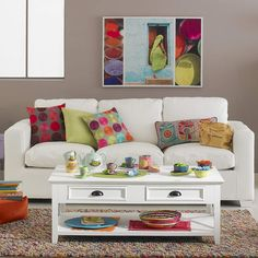 Cómo decorar un sofá con cojines - http://www.decoluxe.net/como-decorar-un-sofa-con-cojines/