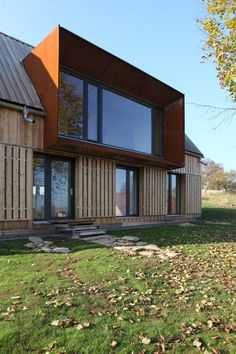 Peaceful rural house that stands towards Mount Vistas in Roprachtice . - Peaceful rural house staring towards Mount Vistas in Roprachtice – Neu Diy - Modern Barn, Modern Farmhouse, Roof Extension, Extension Designs, Dormer Windows, Dormer Roof, Big Windows, Rural House, House Extensions