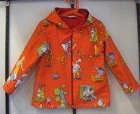 Kierrätyskankainen, retro, lasten takki - recycled retro jacket