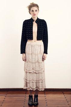 Vintage 1970s Crochet Boho Skirt Pale Pink Scalloped Metallic Festival Maxi Layered Folk Bohemian Skirt Size M