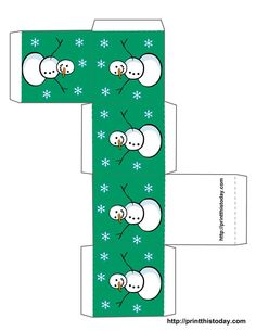 Looking for a Printable Template Christmas Box. We have Printable Template Christmas Box and the other about Printable Chart it free. Christmas Gift Box Template, Free Christmas Printables, Christmas Templates, Printable Box, Templates Printable Free, Free Printables, Colorful Christmas Tree, Christmas Minis, Christmas Nativity