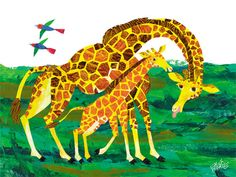 Eric Carle's Giraffe Mother Canvas Wall Art by Oopsy Daisy