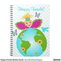 Earth Fairy World Globe Trotter Sign - Custom Journals, Travel Office, World Globes, Journal Notebook, Door Signs, Office Gifts, Mother Earth, Blue Bird, Fairy