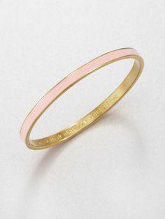 kate spade bracelet black | Kate Spade Heart On Sleeve Bangle Bracelet in (pink-gold) - Lyst