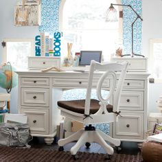 Desk and Chair...love the chair    PB Teen