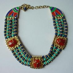 Hattie Carnegie Egyptian Collar