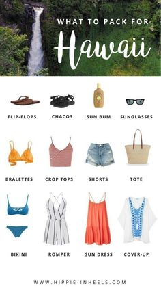 Packing tips for 1 week vacation. Pack the clothes which can be towards the top of your priority for the vacation or outdoor trip including swimwear or pijamas. Traveling suggestions for making your journey go a lot more easily. Hawaii Vacation Outfits, Honeymoon Outfits, Hawaii Honeymoon, Maui Vacation, Vacation Packing, Packing Tips, Travel Packing, Travel Tips, Travel Outfits