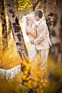 LBK Photography Bride and groom in the autumn Aspens. Give us a minute... by Lela Kieler on 500px Colorado Wedding Photographer
