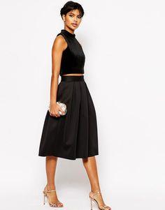 Image 1 ofASOS Midi Skirt in Scuba