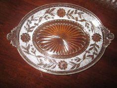 EAPG 1880s  Co-Op Flint's  pattern, DAHLIA Bread Plate