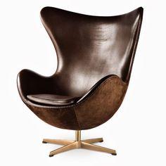 El sillón Egg y la silla Swan, dos grandes creaciones de Arne Jacobsen.