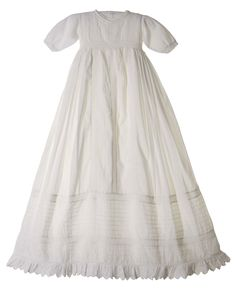 NEW Hearts Delight Victorian Style Christening Gown with Pintucks and Openwork Lace $225.00 #VintageStyleChristeningGown #HeartsDelightChristeningGown