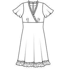 Платье - выкройка № 123 из журнала 5/2009 Burda – выкройки платьев на Burdastyle.ru