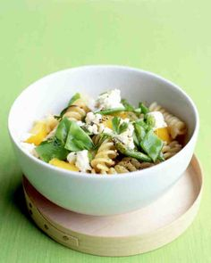 Pasta Salad with Feta and Snow Peas