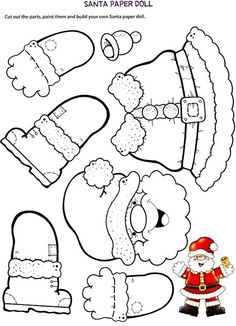 - NOEL - Coloriage et découpage pour occuper petit et grand Coloring and cutting to occupy small and big. Preschool Christmas, Noel Christmas, Christmas Paper, Christmas Crafts For Kids, Christmas Activities, Christmas Printables, Christmas Colors, Christmas Projects, Holiday Crafts