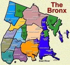 The Bronx Neighborhood map
