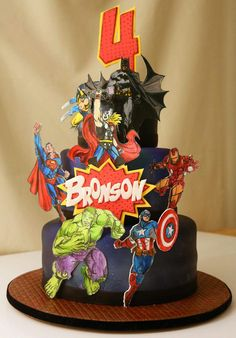 Awesome superhero cake