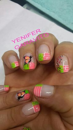 Uñas French Manicure Designs, Nail Art Designs, Bella Nails, Nails Polish, Beautiful Nail Art, Simple Nails, Spring Nails, Diy Nails, Nail Tips