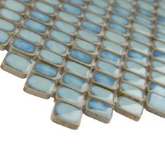 Make your home gorgeous and fascinating by adding this durable Hudson Diamond Marine Porcelain Mosaic Tile from Merola Tile. Mosaic Wall, Mosaic Tiles, Wall Tiles, Shower Floor, Tile Floor, Marine Colors, Tile Projects, Fireplace Surrounds, Stone Tiles