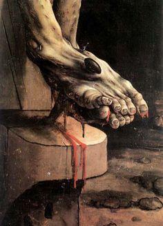 Detail from Mattias  Grünewald's Crucifixion (Isenheim Altarpiece)