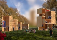 The Baboushka boxes installation by dRMM aims to address the topic of housing and the future of living spaces at LDF 2016