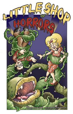 little shop of horrors by katiecandraw on DeviantArt Horror Comics, Horror Art, Little Shop Of Horrors, Horror Monsters, Star Wars Celebration, Horror House, Creepy Art, Star Wars Darth, Comic Covers