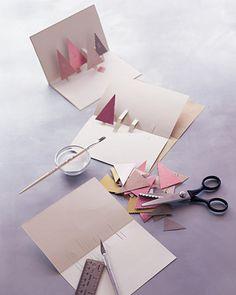 kartka z choinkami