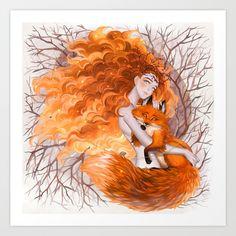 Fox Spirit Art Print by Lüleiya | Society6