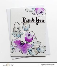 One Layer Floral Card using Hibiscus Bouquet set - Altenew Blog