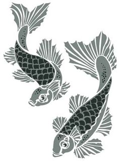 1000 images about halloween on pinterest pumpkin for Koi fish stencil