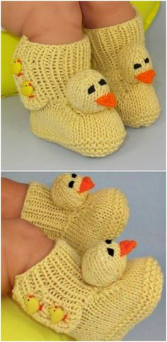 Cute Knitted Duck Booties Pattern | The WHOot