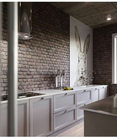 Kitchen wall is the essential side of our kitchen, the wall became the first view. That's why kitchen wall ideas became the most important thing. Design Loft, Deco Design, Küchen Design, Design Ideas, Modern Kitchen Design, Interior Design Kitchen, Modern Kitchens, Kitchen Tops, Kitchen Decor