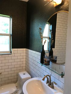 bathroom remodeling new york. my small bathroom remodel. classic new york vibes! subway tiles with black grout, walls, gold accessories remodeling